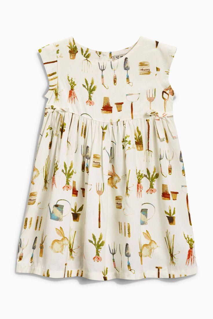 Ecru Garden Print Dress