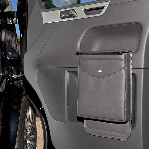 vw california t5 multibox door bin storage leather anthracite vw campervan accessories. Black Bedroom Furniture Sets. Home Design Ideas
