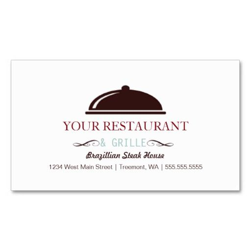 Restaurant Logo Design Simple Dining/Catering Business Cards
