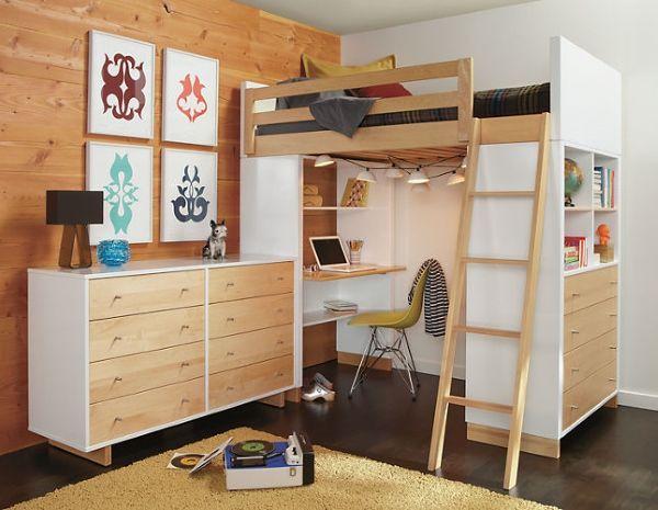 Современная кровать чердак для подростка
