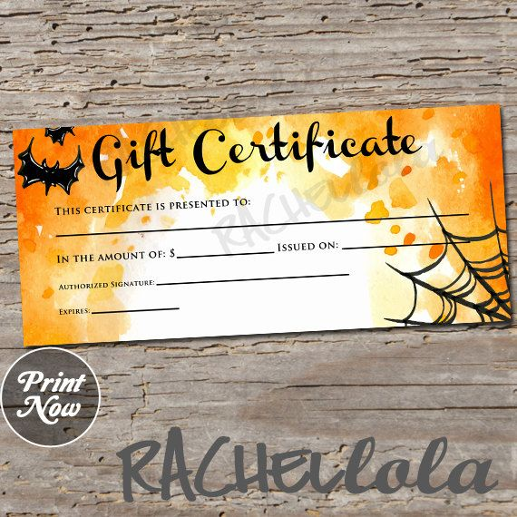 73 best gift certificate downloads images on pinterest gift halloween printable gift certificate template spooky fall direct sales photography gift yelopaper Images