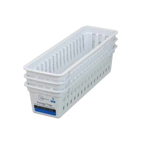 Home Organized Plastic Storage Trays Storage Bins