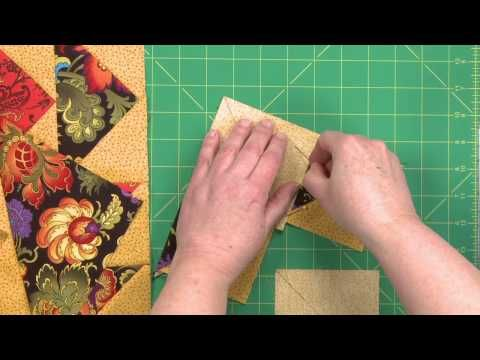 ▶ No-Waste Flying Geese: Dutchman's Puzzle Block - YouTube