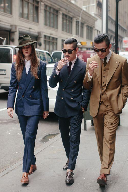 2013-09-10のファッションスナップ。着用アイテム・キーワードはサングラス, スリーピーススーツ, ダブルスーツ, ネクタイ, モンクストラップ,etc. 理想の着こなし・コーディネートがきっとここに。| No:25460