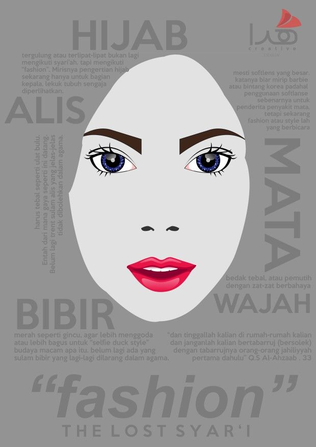 Fashion : The Lost Syar'i #poster #hijab #burqa #islam #islamic #muslimah #syar'i #syiar #fashion