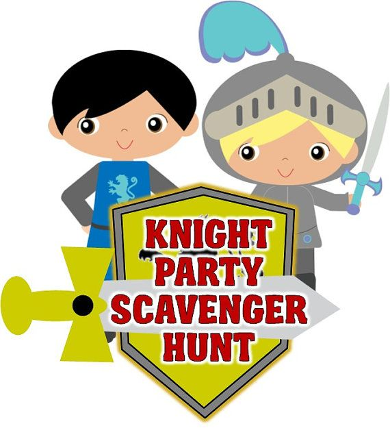 Knight Party Scavenger Hunt Printable By