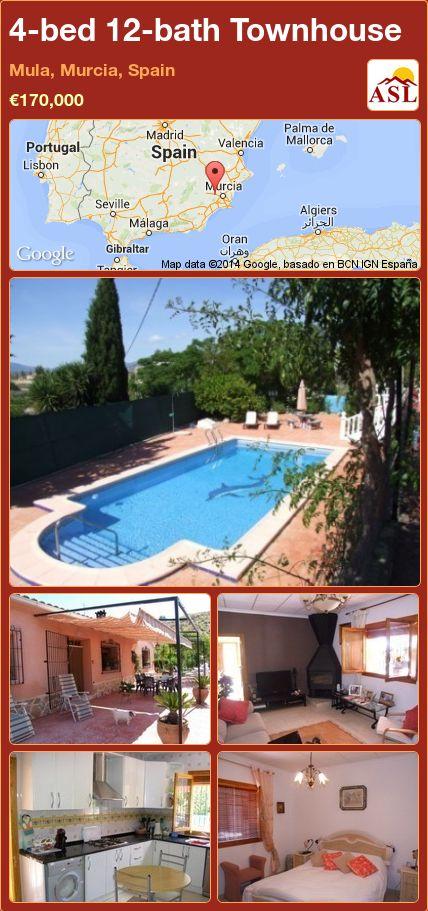 4-bed 12-bath Townhouse in Mula, Murcia, Spain ►€170,000 #PropertyForSaleInSpain