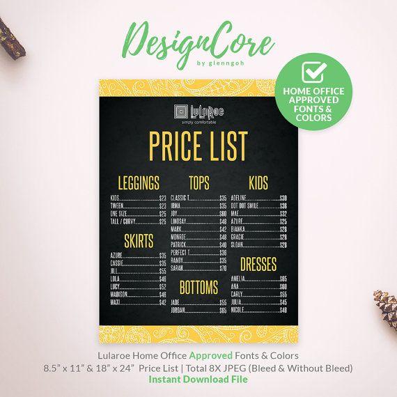 7 best lularoe price list images on pinterest company for Home design price list