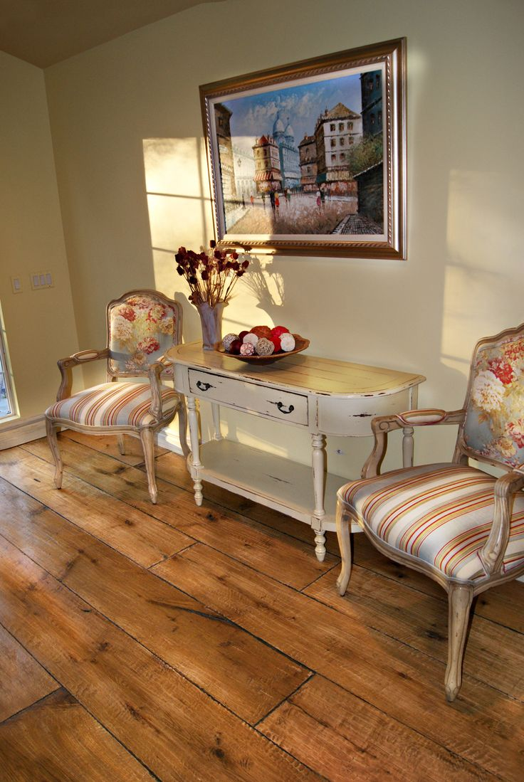 The look we are going for with our recycled Baltic pine floorboards and tung oil.