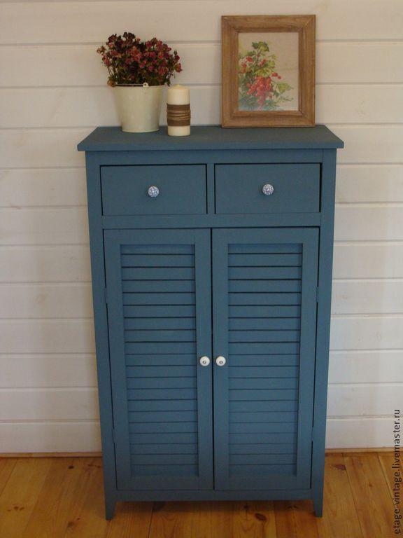 Купить Шкаф- комод Средиземное Море. - тёмно-синий, шкаф- комод, прованс, ретро-стиль