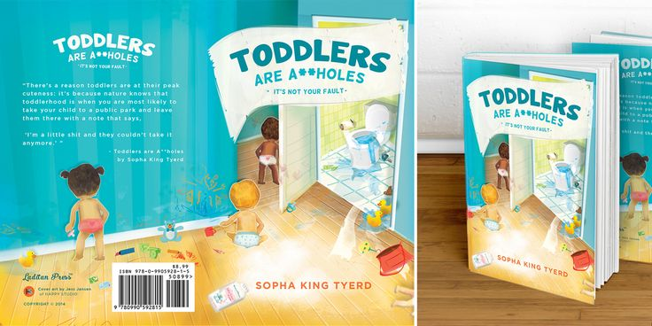 """Illustration artwork for book cover - """"Toddlers Are A**holes"""" by Bunmi Latidan - illustration by Jess Jansen"""