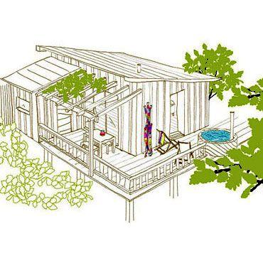 Plus de 1000 id es propos de cabane sur pinterest - Dessin de cabane ...