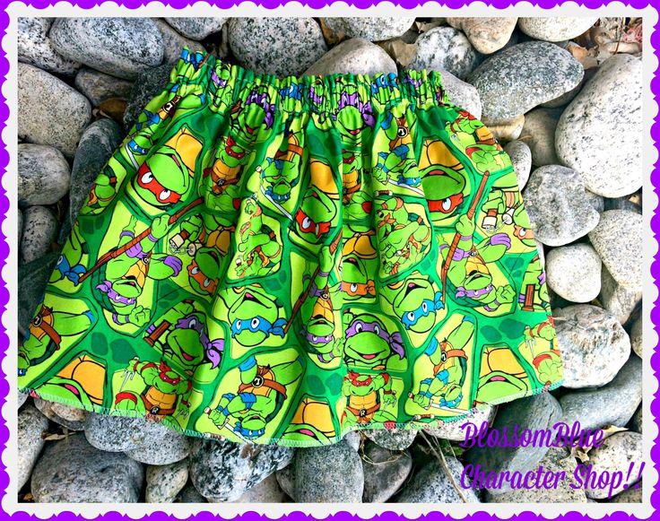 Girls ninja turtle skirt TMNT skirt 12m 18m 2t 3t 4t 5t 6X 7 8 9 10 12 14 16 ready to ship Womens Small Medium Large by BlossomBlueBoutique on Etsy https://www.etsy.com/listing/228989513/girls-ninja-turtle-skirt-tmnt-skirt-12m