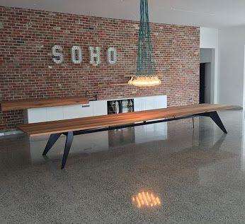 Long Dining Tables Industrial Interior Design