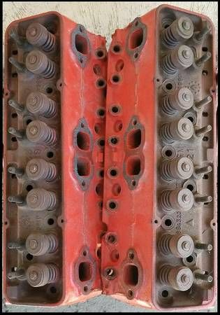 For sale, 2 cast iron heads for 350 engine
