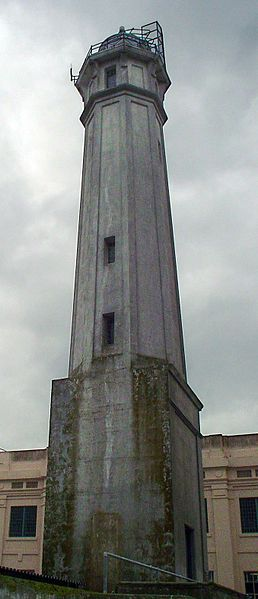 The lighthouse tower adjacent to the prison cellhouse