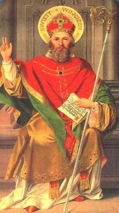 """Adalbert of Prague (sv.Vojtěch, 957) - saint and martyr, a Bishop of Prague and missionary. He evangelized Poles and Hungarians. The patron saint of Czechia, Poland, Hungary and Prussia. Presumably, Adalbert is the author of the first Czech hymn """"Hospodine pomiluj ny"""" in the end of 10th century, unique also because it is commonly sung also today. #Czechia #Poland #Hungary"""