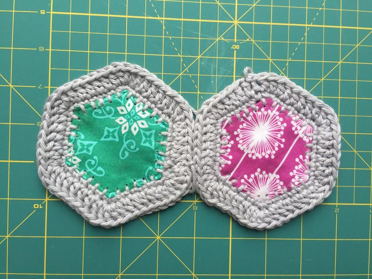 Experimental Stitching - Fusion Hexagons from Hugs are Fun