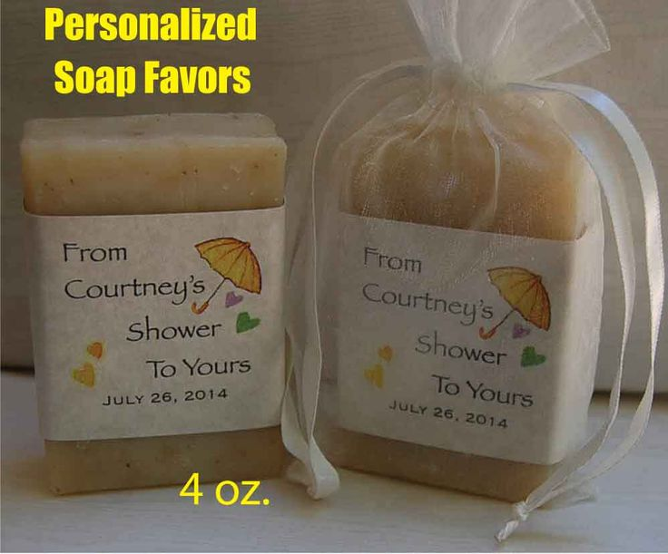 Personalized Party Favor -Handmade Soap - 4 oz. bars-40 for $106 by RogueValleySoap on Etsy https://www.etsy.com/listing/186799726/baby-shower-favor-party-favors