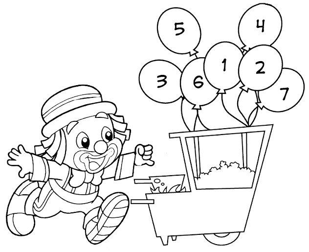 45 besten coloring clowns bilder auf pinterest