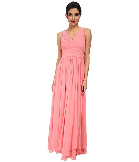 Eliza J Sleeveless Pleated Bodice and Waist Gown