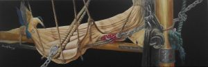 Gary Roberts, 'The Rigging' (2013) Acrylic on canvas, 400 x 1200 mm, POA at the Remuera Gallery