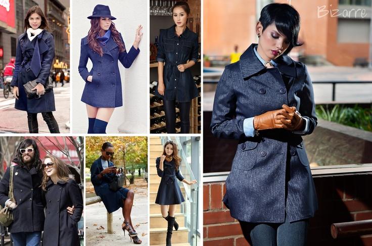 Street Trend:   18. Abrigo Azul Indigo