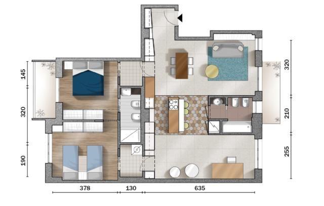 Pin Su Planimetrie Dell Appartamento