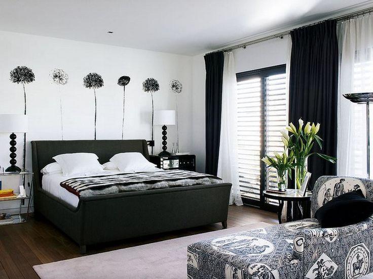 ideas de sofás en blanco negro en el dormitorio