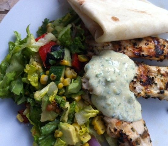 Your Inspiration at Home Thai Chicken Salad with Curry Flavoured Yoghurt. #YIAH #side #salad