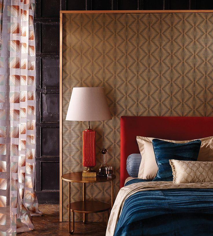 70s Interior Design Revival | Ruhlmann Wallpaper by Osborne & Little | Jane Clayton
