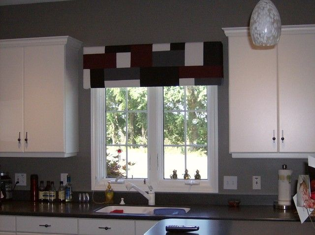 67 best window treatments images on pinterest blinds curtain designs and curtain ideas - Modern valances for kitchen ...