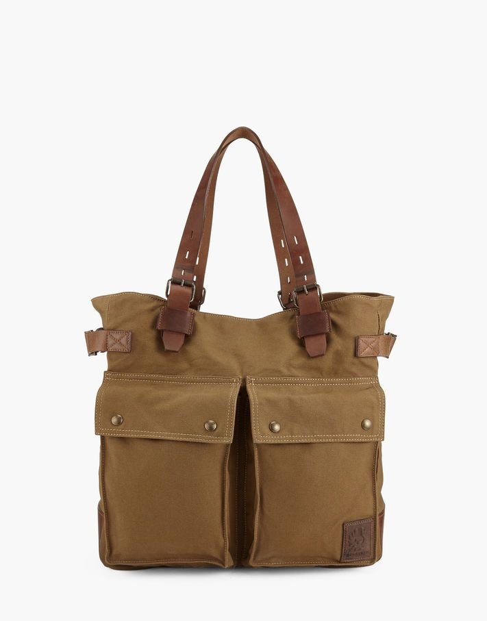 Pinner Tote Bag. A practical utility tote bag with a seasoned appearance . Shop the Pinner tote bag from Belstaff UK.