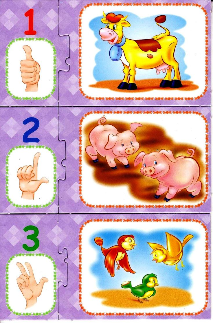 * Puzzelen, cijfers, vingers... 1-4
