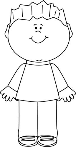 ... And White, Clip Art Kids, Black White, Boy, White Black, Art Black