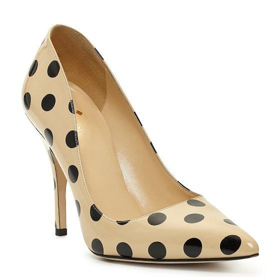 kate spade | cream and black polka dot - designer shoes