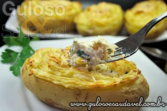Batatas Recheadas com Bacalhau » Peixes e Frutos do Mar, Receitas Saudáveis » Guloso e Saudável