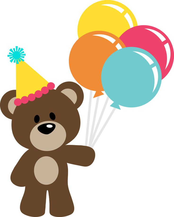 PPbN Designs - Birthday Bear Freebies Free SVG files free svg cut files form ppbn designs