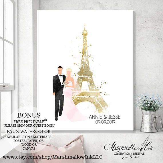 Wedding Canvas Wedding Guest Book - Wedding Gift for Bride Wedding Keepsake - Wedding Tree Guest Book Alternative - Bridal Shower Gift Ideas   Gorgeous Wedding Guest Book Alternative available as a poster or canvas. Please choose your size and material from the drop down menu under