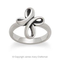 Eternal Ribbon Cross Ring from James Avery