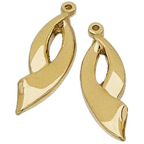 14kt Yellow Gold Designer Style Earrings Jacket Jewelry Days. $489.00. Also available in various width.. Weighs approximately 4.08 grams.. Crafted in pure 14Kt. Yellow Gold with a satin finished.. Simply Elegant and Beautifully designed earrings jacket in a 23.75 mm X 6.75 mm and 4.06 grams.