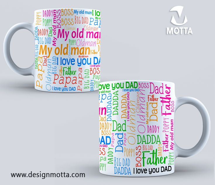 DESIGN FOR SUBLIMATION OF MUGS FATHER'S DAY #mugs #cup #sublimation