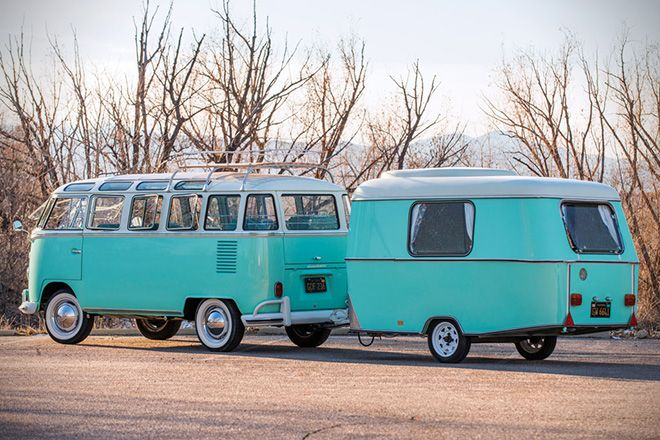 1963 Volkswagen 23-Window Microbus With Camping Trailer