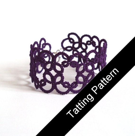 PDF Tatting Pattern Christina Bracelet  Beginner by TataniaRosa, $3.50