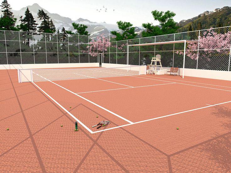 quadra de tennis