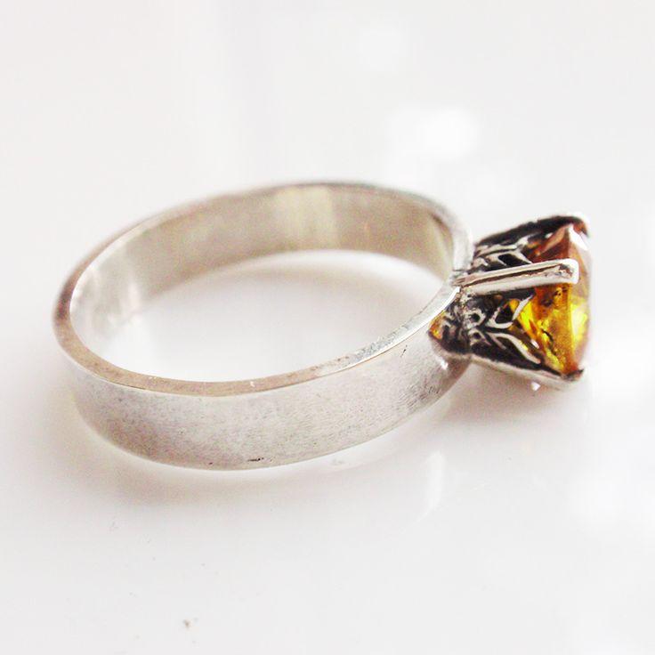 """Кольцо """"Indian summer"""". Желтый сапфир, серебро - кольцо с сапфиром, желтый, солнечный, кольцо с желтым камнем"""