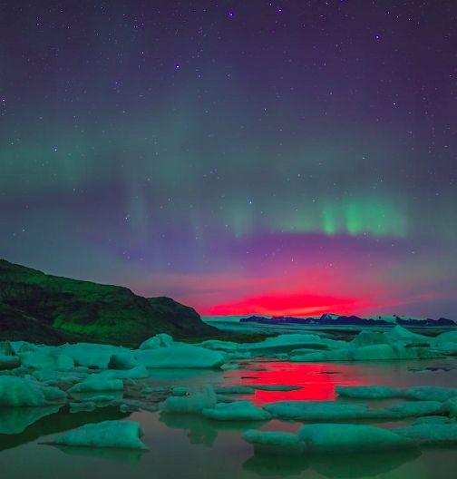 O filme conta com apenas 5 minutos, mas é capaz de deixar qualquer um de boca aberta ao ver os tons de rosa, azul e verde se fundirem nos céus da Islândia, onde as imagens foram captadas.