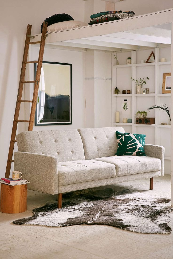 Berwick Mid-Century Sleeper Sofa ($849). Inspired by mid-century design, this sofa has tufted back and seat cushions for an updated look. In a totally versatile design that you can use in any space – works with boho, femme or modern decor! Back folds down to reveal the perfect place for guests to sleep.