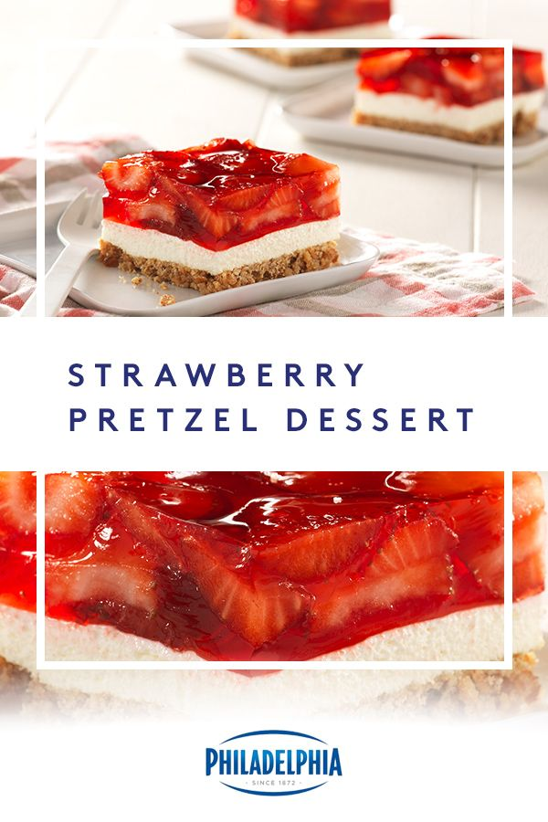 What's crunchy, white and red all over? Our scrumptious Strawberry Pretzel Dessert Squares. They're guaranteed to rule to the dessert table.
