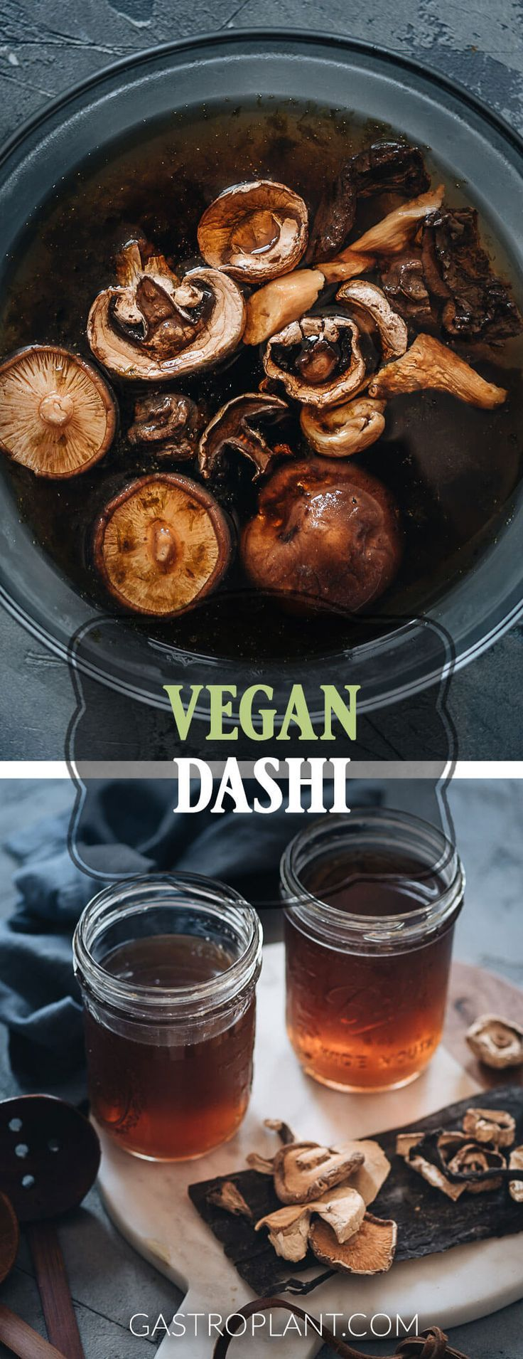 Vegan Dashi | Tastes like the earth and the sea. Made from dried mushrooms and k…